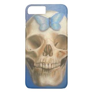 Crâne de beaux-arts peignant la caisse pourpre de coque iPhone 7 plus