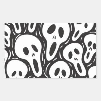 Crâne de fantôme sticker rectangulaire