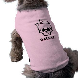 Crâne de Girlie avec une conception d'arc avec le T-shirt Pour Animal Domestique