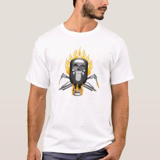 Crâne de soudeuse : Masque flamboyant T-shirt