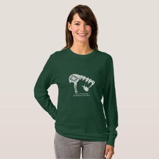 Crane Eating Fish - Mimbres Pottery Design T-Shirt