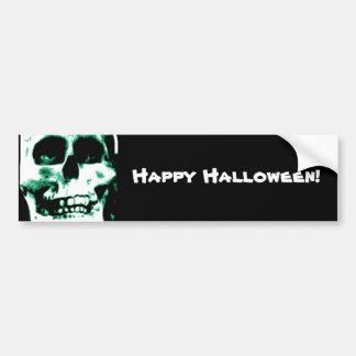 Crâne effrayant de Halloween Autocollant De Voiture