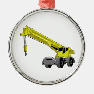 Crane Equipment Silver-Colored Round Ornament