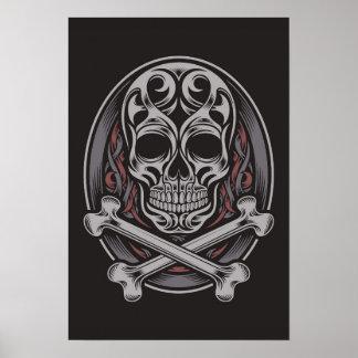 Crâne et os croisés poster