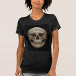 Crâne fait de cercles t-shirts