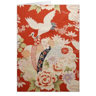 Crane Flowers Card