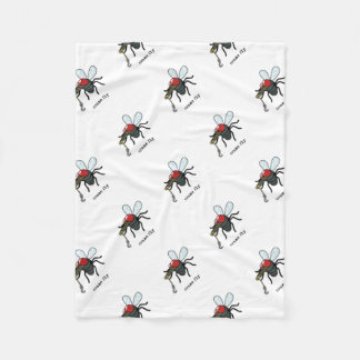 Crane Fly Fleece Blanket