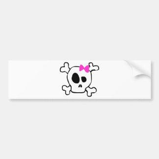 Crâne Girly Autocollant De Voiture