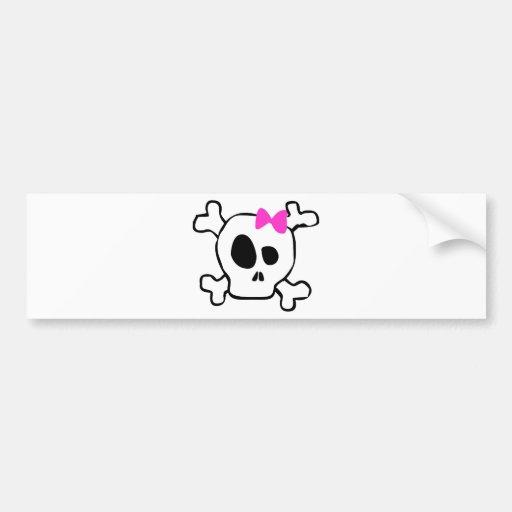 Crâne Girly Adhésif Pour Voiture