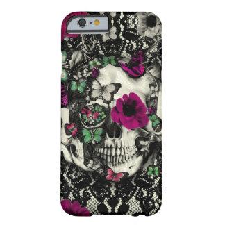 Crâne gothique victorien de dentelle avec des acce coque iPhone 6 barely there