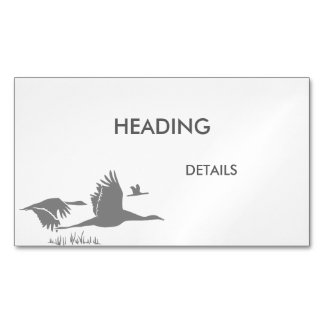 Crane Guy Magnetic Business Card