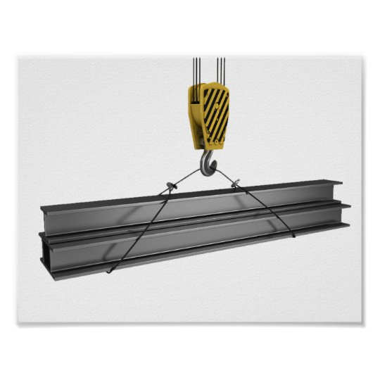 Crane Lifting Girders Poster