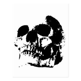 Crâne noir et blanc d'art de bruit cartes postales