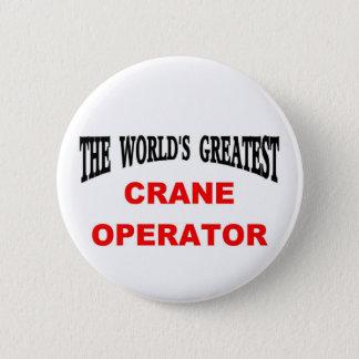 Crane operator 2 inch round button