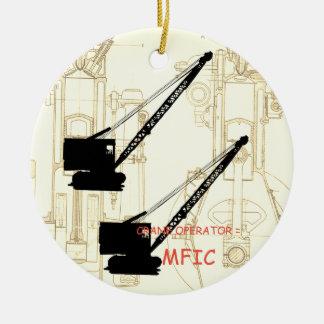 Crane operator = MFIC VINTAGE CRAWLER CRANE Ceramic Ornament