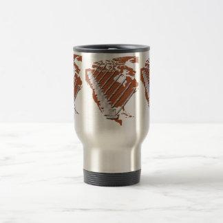 Crane Operator North America Diamond Plate design Travel Mug