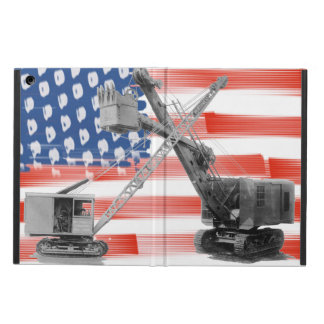 Crane Operator Northwest Crane USA Flag Vintage Cover For iPad Air