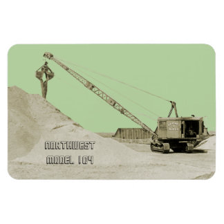 CRANE OPERATOR NORTHWEST MODEL 104 CLAMSHELL OLD MAGNET