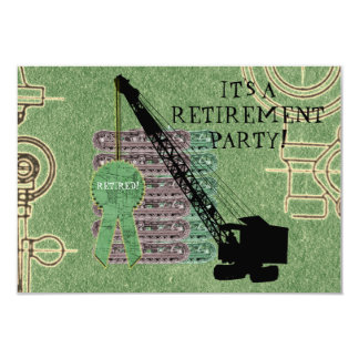 CRANE OPERATOR OPERATING ENGINEER RETIREMENT PARTY CARD