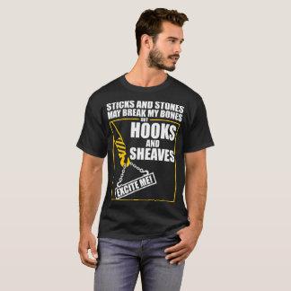 Crane Operator Sticks Stones Hooks Sheaves Excite T-Shirt