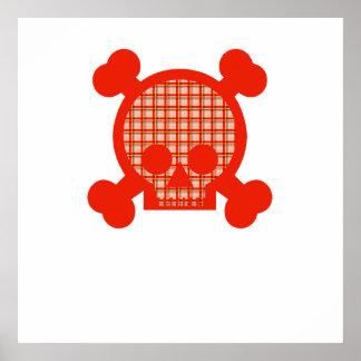 Crâne orange de motif posters