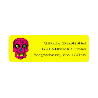 Crâne personnalisable de sucre étiquettes d'adresse retour