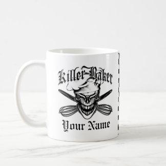 Crâne riant de chef mug blanc