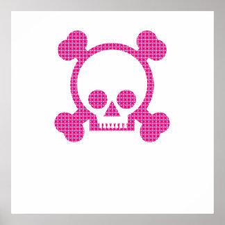 Crâne rose poster