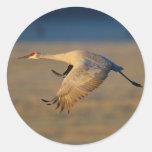 crane round sticker
