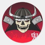 Crâne samouraï adhésif