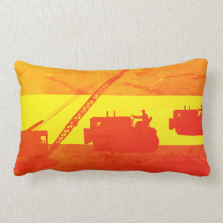 Crane Shovel OPERATING ENGINEER art bulldozer Lumbar Pillow