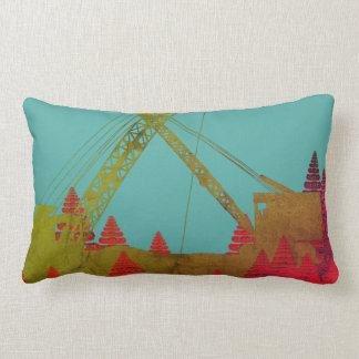Crane Shovel OPERATING ENGINEER art Lumbar Pillow