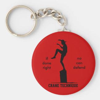 Crane Technique - Karate Kid No Can Defend Keychain
