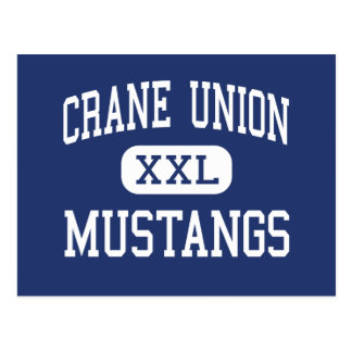 Crane Union - Mustangs - High - Crane Oregon Postcard