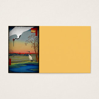 Cranes and Blue Water Business Card