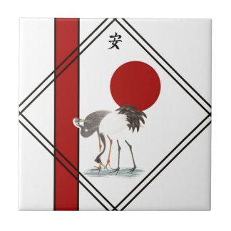 Cranes and Tranquillity Ceramic Tile