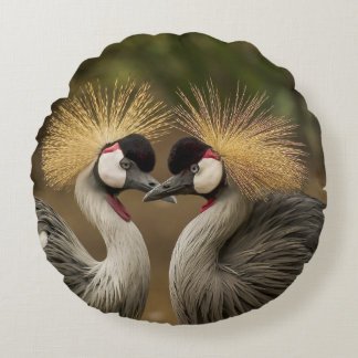 Cranes as Zierkissen Round Pillow