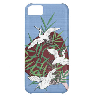 Cranes, bamboo and fan case for iPhone 5C