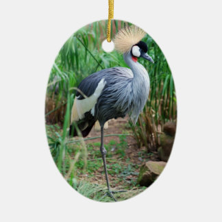 Cranes Crowning Glory Ceramic Oval Ornament