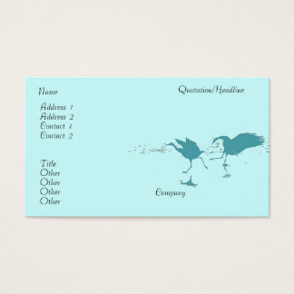 Cranes Dance Business Card