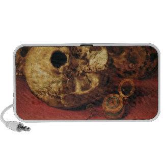 Crânes de beaux-arts haut-parleurs mobiles