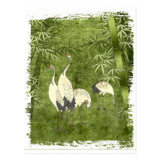 Cranes in the Bamboo Forest Postcard
