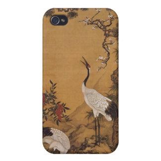 Cranes Japanese Woodblock  iPhone 4/4S Case