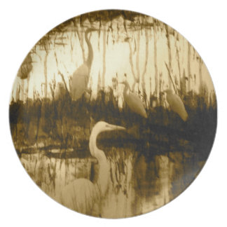 cranes on a plate