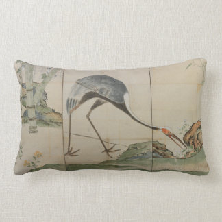 Cranes, Pines, and Bamboo Lumbar Pillow