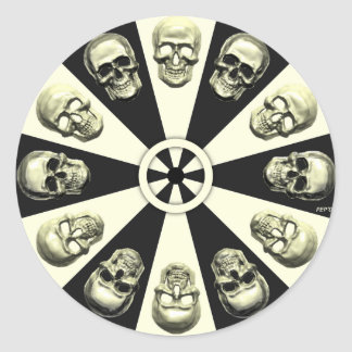 Crânes Sticker Rond