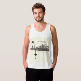 """Craneville"" - Nashville, TN skyline Tank Top"