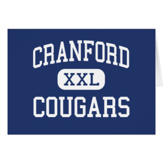 Cranford - Cougars - High - Cranford New Jersey Card