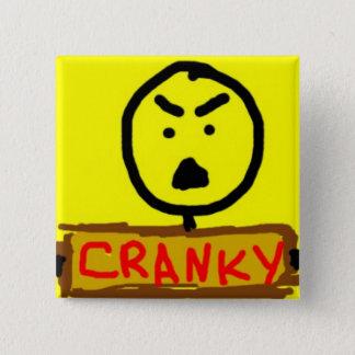 Cranky 2 Inch Square Button
