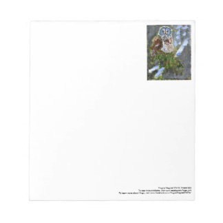 Cranky blue-faced owl notepad